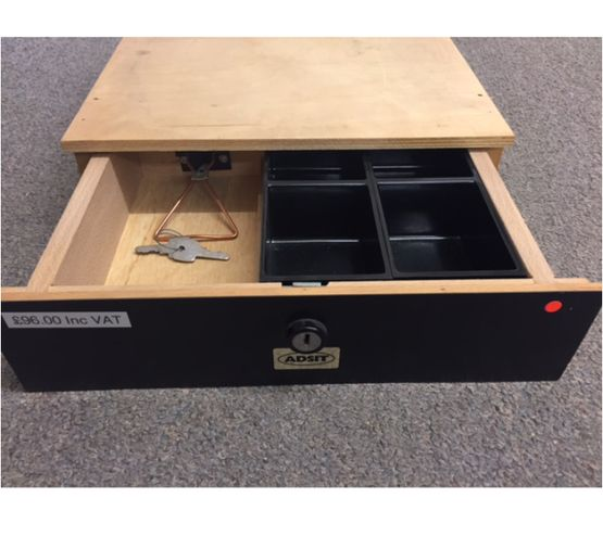 Compact under counter drawer Model F by M A Lloyd