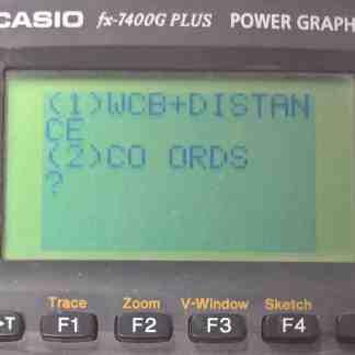 Casio Calculator Programme