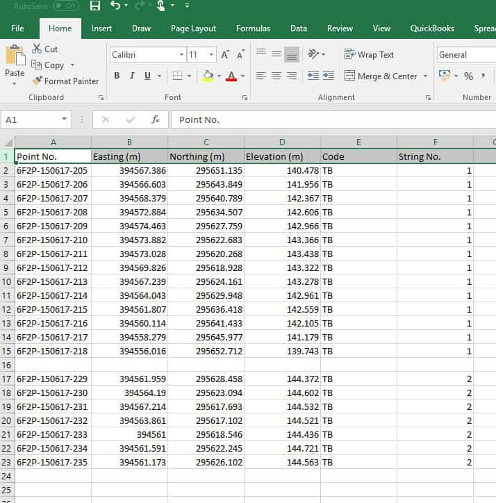 Stockpile Example Data 2