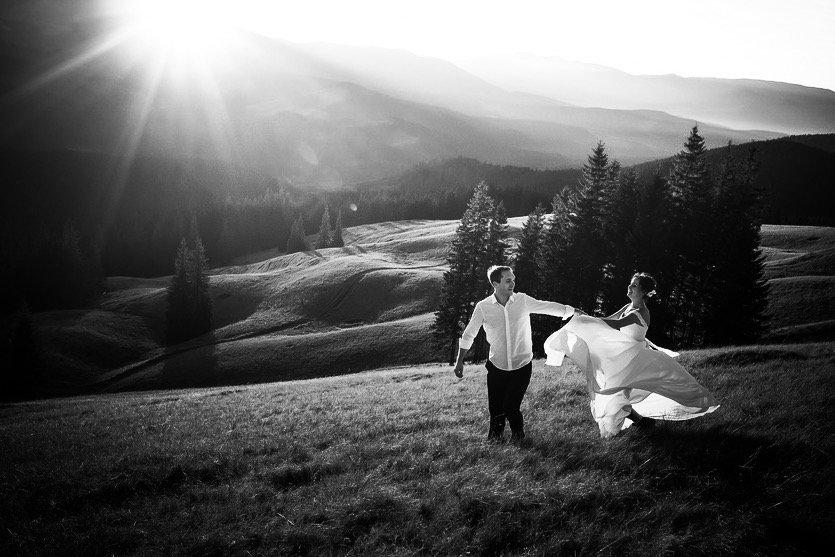 Alpen Brautpaar