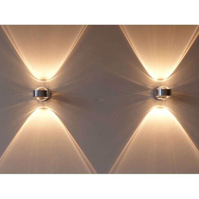Top Light Puk Maxx Wall Plus Chrom Matt  Designer Lampen