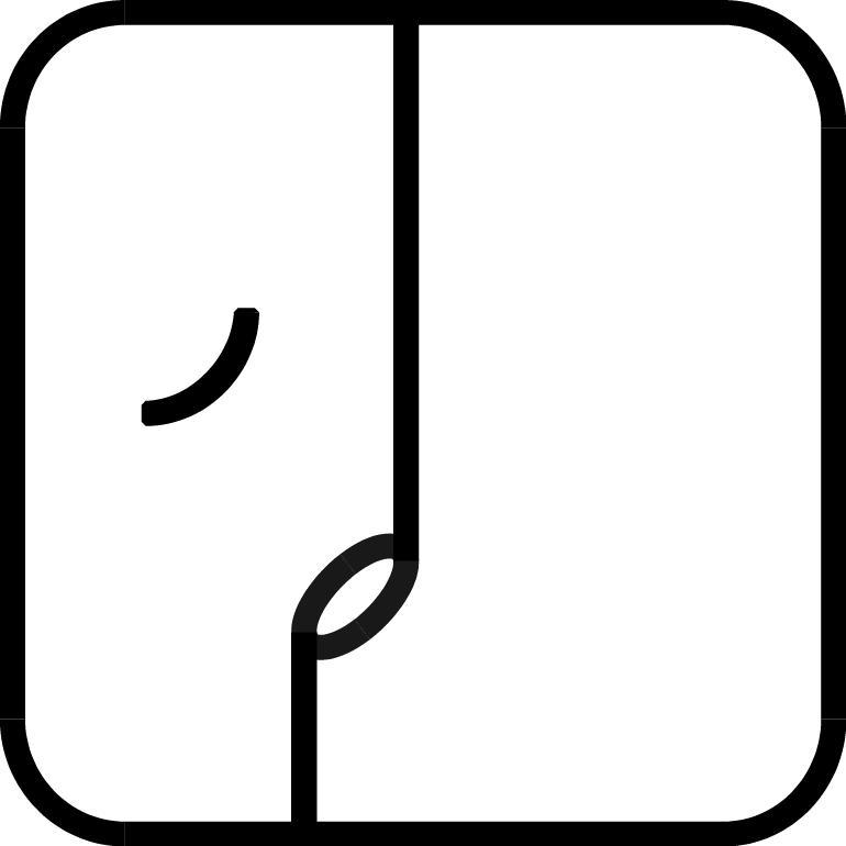 Weißer Weltenüberbrücker-Symbol
