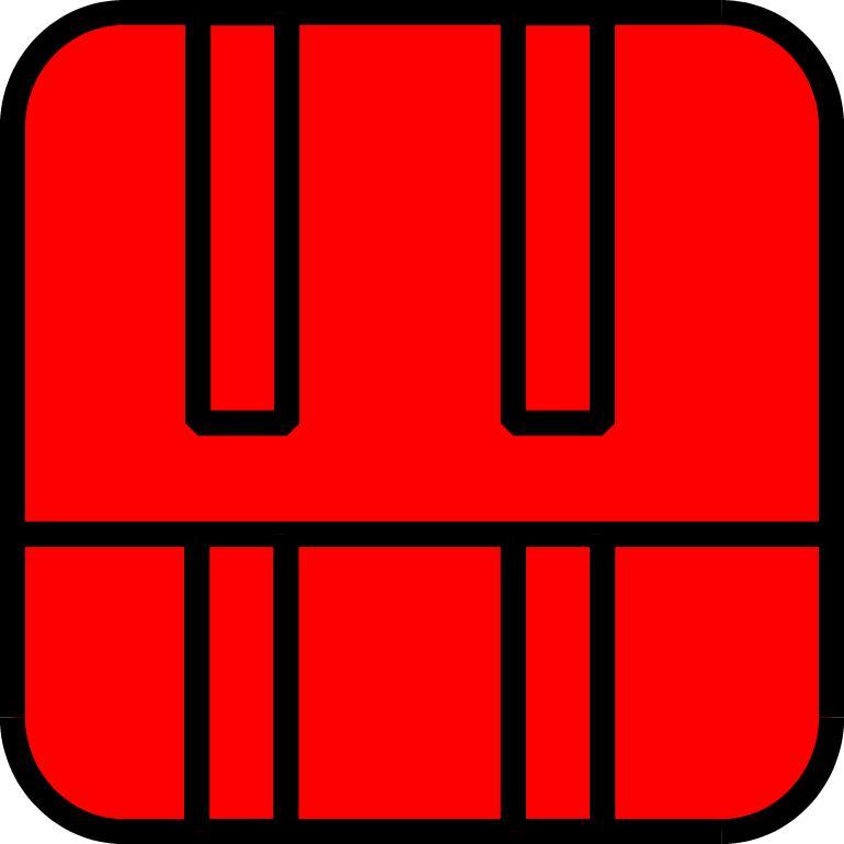 Roter Himmelswanderer-Symbol