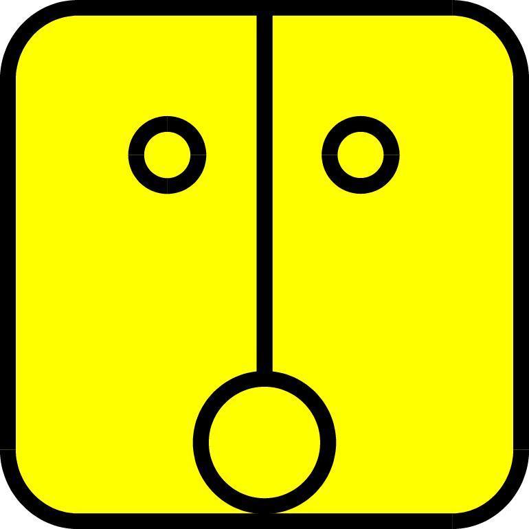 Gelbe Sonne-Symbol