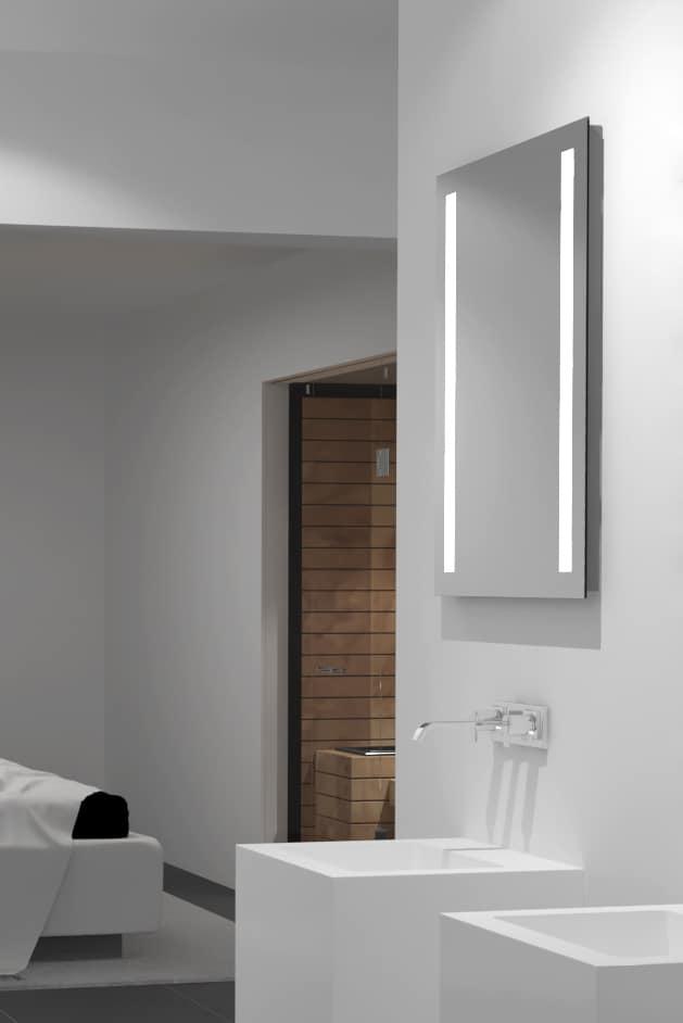 Badezimmerspiegel mit Beleuchtung links  rechts  TALOS LIGHT