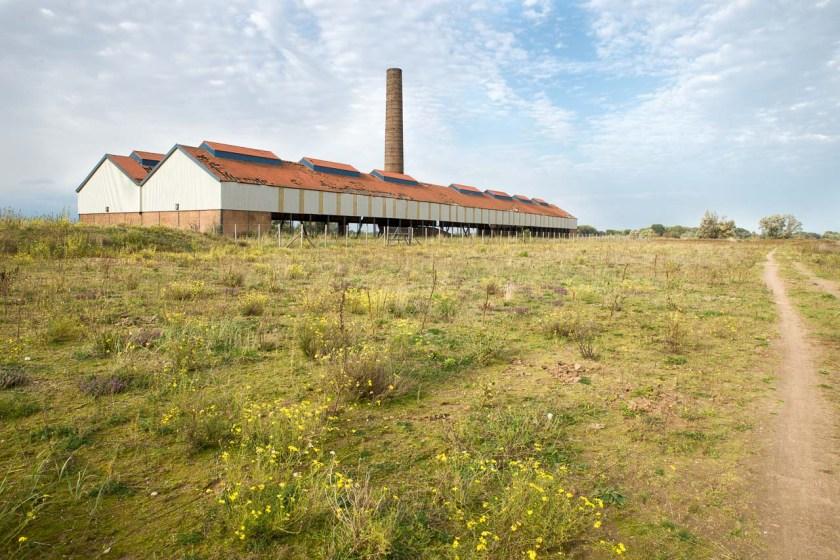 Leerstehendes Fabrikgebäude in der Millingerwaard