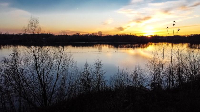 Sonnenuntergang am Kottruper See