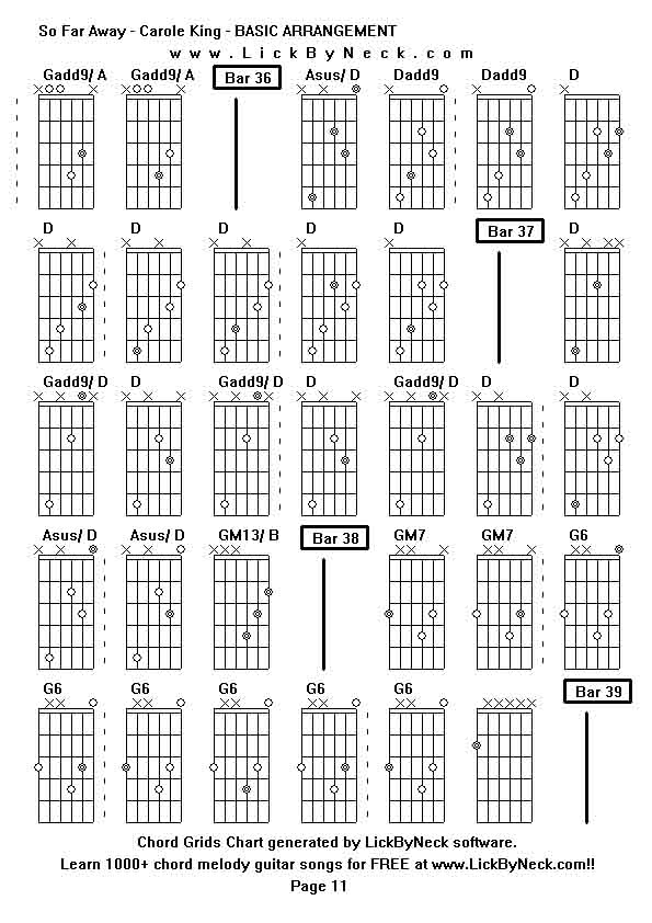 so far away chords by carole king