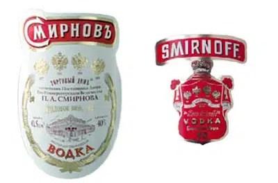 Acuerdo pone fin a disputa entre vodka Smirnoff y Smirnov