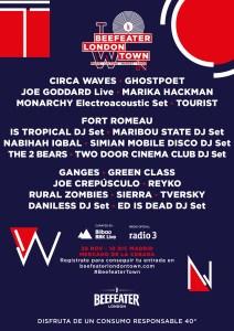 Bandas y DJs en el Beefeater London Town