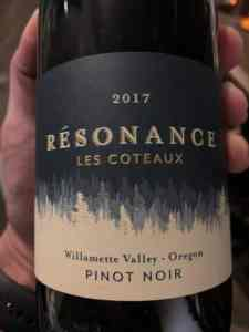 Résonance Pinot Noir Willamette Valley 2017