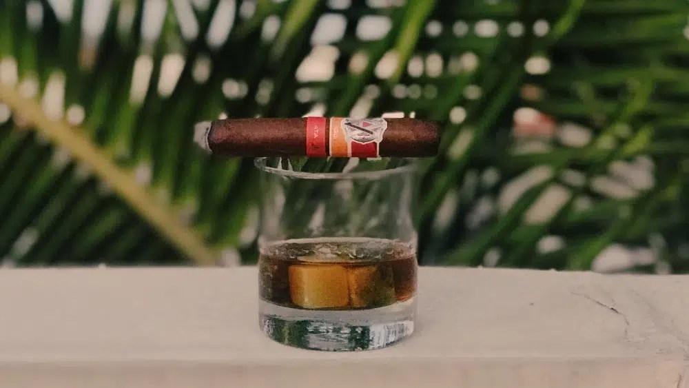 Perfecto bourbon, whisky y coñac con 5 grandes tabacos