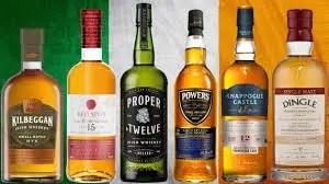 Distintas marcas de whisky irlandés