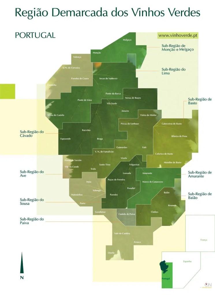 Nueve subregiones