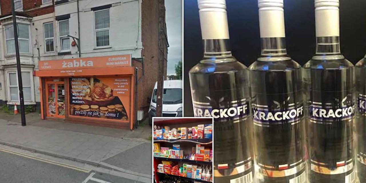 Vodka de fuerza 150.000x ilícito se encontró en tienda de Lincoln