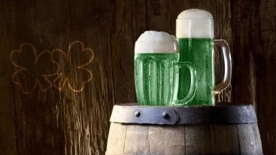 Cerveza verde.