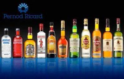 El portafolio de Pernod Ricard incluye marcas de gran prestigio