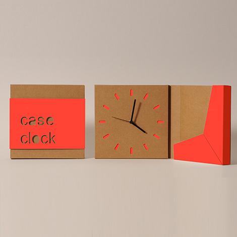 orologio di natale in cartone