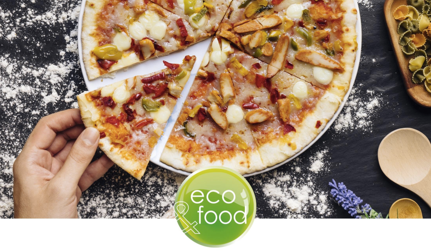 Eco-friendly food packaging for Fresh and frozen pizza