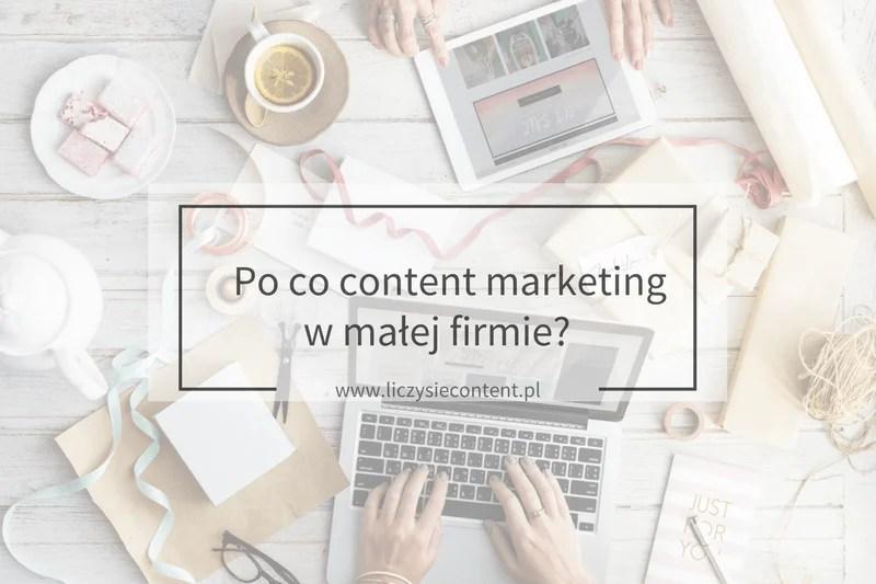 content marketing w małej firmie
