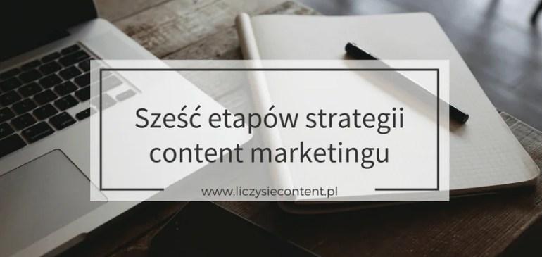 6 etapów strategii content marketingu