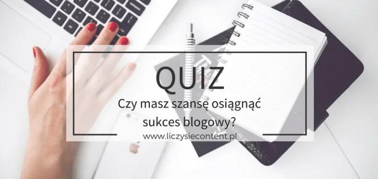 sukces blogowy