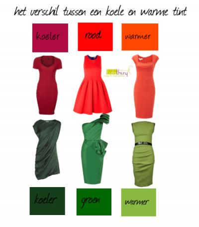 Hoe zie je nu het verschil tussen koele en warme kleuren?