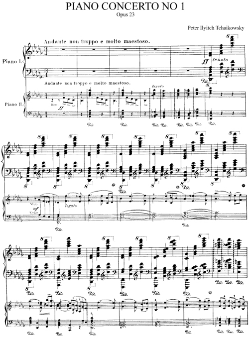 TchaikovskyPianoConcertoNo1