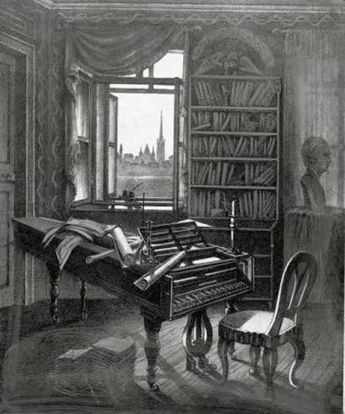 Camera nella quale Beethoven suonava il piano. 1827
