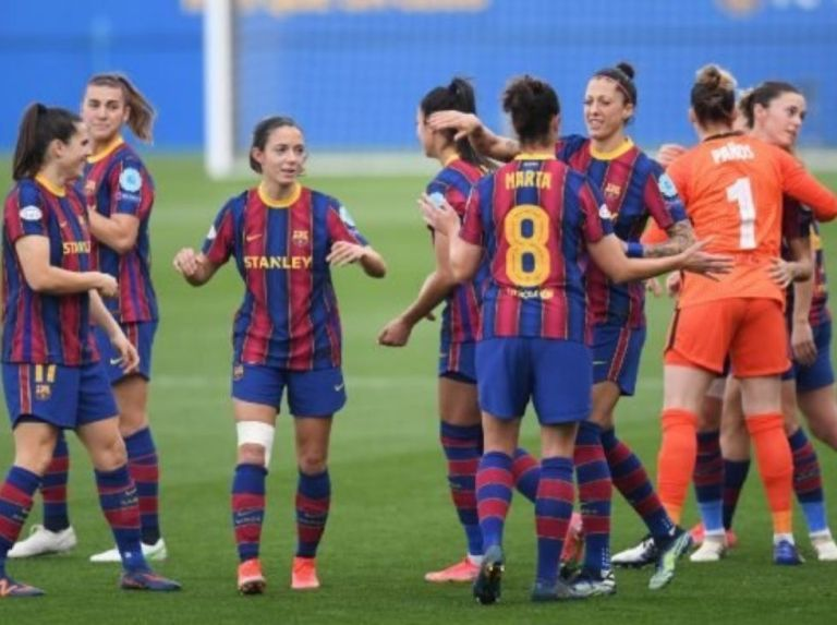 Barcelona women were crowned in the Iberdrola League