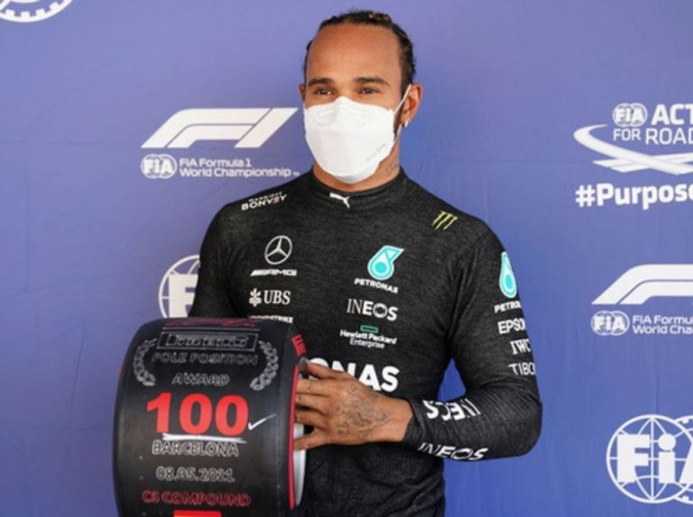 Lewis Hamilton reached 100 poles conquered