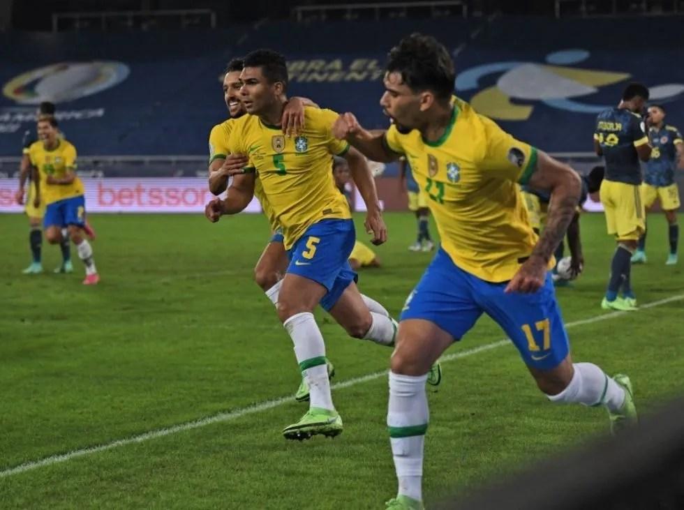 Casemiro rescató a Brasil