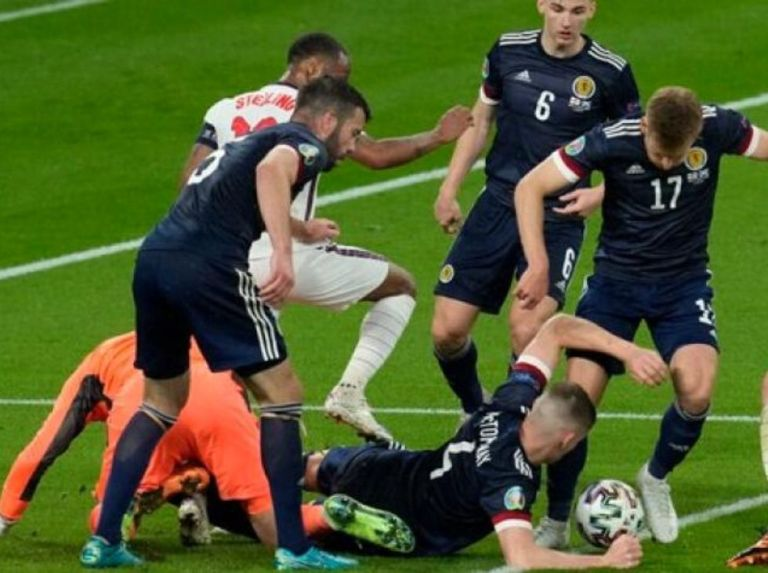 Scotland and England drew goalless in the European Championship