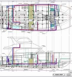 64 ft production power boat plumbing schematic [ 1113 x 818 Pixel ]
