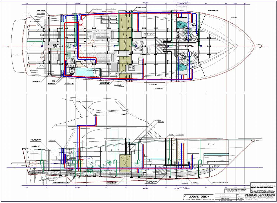 hight resolution of 64 ft production power boat plumbing schematic