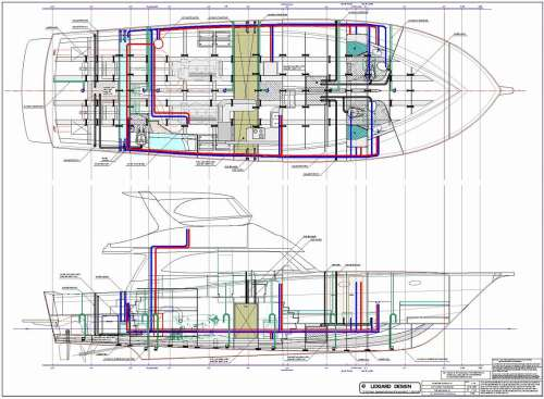 small resolution of 64 ft production power boat plumbing schematic