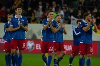 Liechtensteins Nationalspieler freuen sich über das gute Abschneiden gegen Deutschland