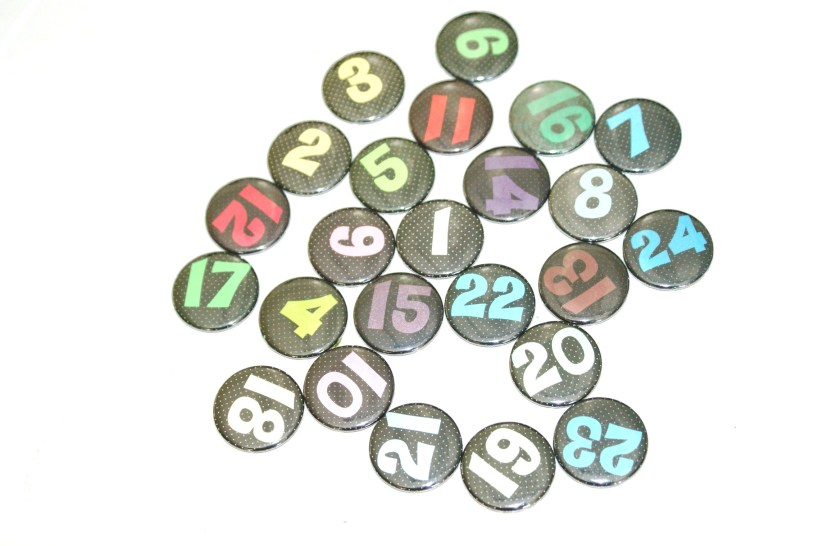 Adventskalender Buttons