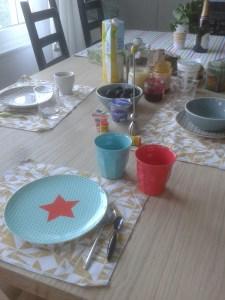 Frühstücks-Freuden, wenn immer möglich sitzen wir 3x am Tag zusammen am Tisch. Essen + reden.