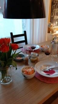 Abendessen mit meinen Lieben.