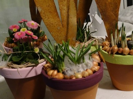 Frühlingsblumen meets Osterhase