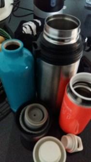 Warmes Wasser - alle Thermosbehälter müssen heute mit.