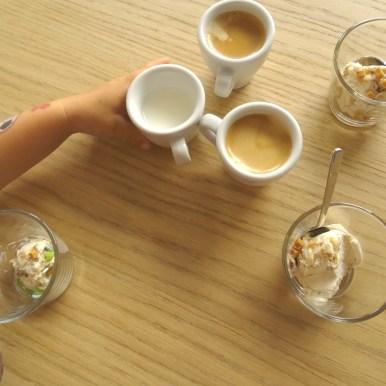 Dessert und Espresso geht immer.