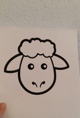 Schaf ausgedruckt
