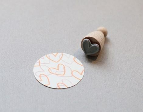 Perlenfischer Stempel Big Heart outline K020