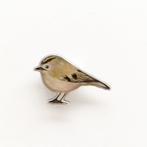 Stokwolf Broche Vogel Goldcrest BR-STK-04