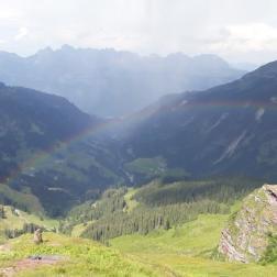 Regenbogen Romantik
