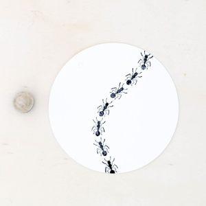 Perlenfischer Stempel Ameise F063