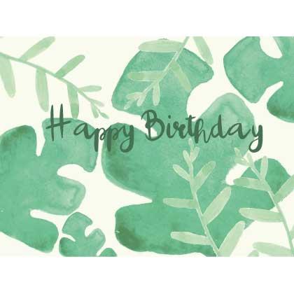 Waldgraefin Postkarte Blattgrün Birthday 19001