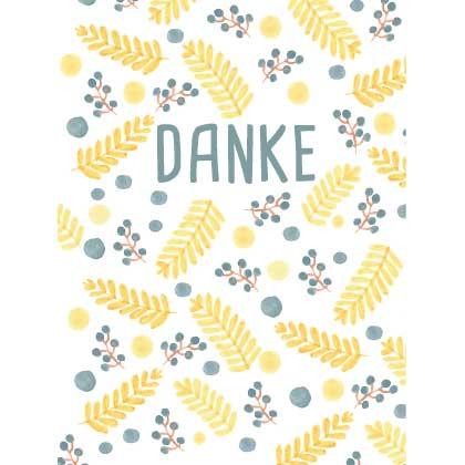 Waldgraefin Postkarte Danke WG050